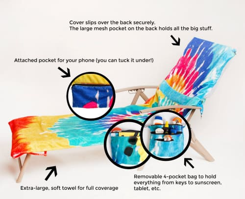 Features of the Pool Pack Lounge Chair Cover